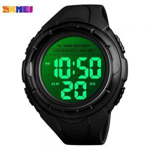 SKMEI 1563 Sport Men's Watches 5Bar Waterproof LED Display Digital